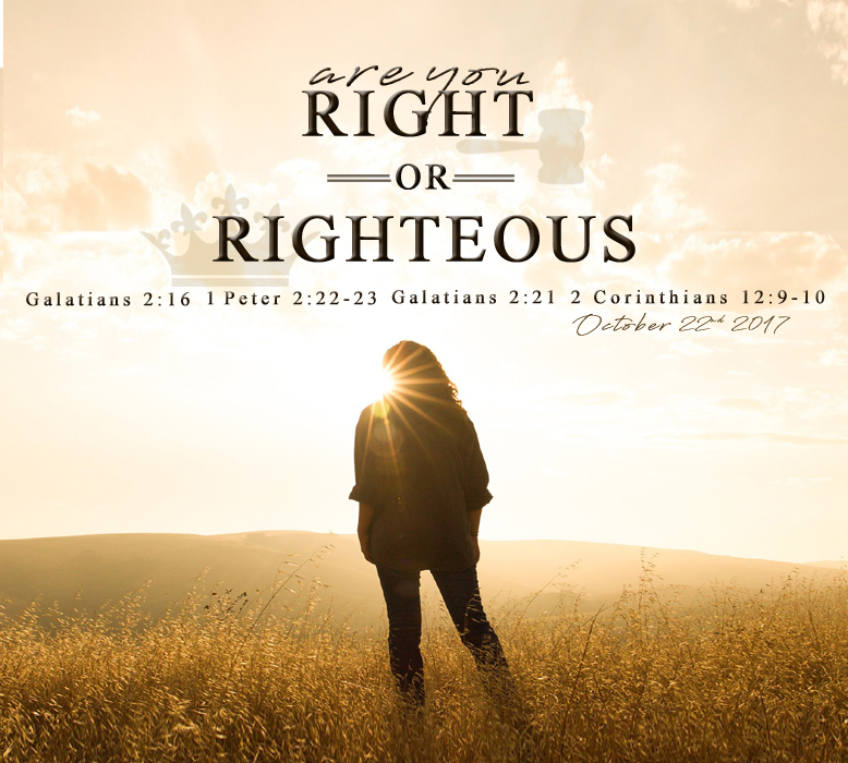 Sermon right or righteous